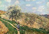 Springtime at Bougival - Alfred Sisley - www.alfredsisley.org