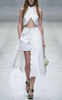 catwalk crop top fashion