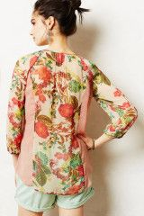 Anthropologie Roselle Peasant Top in Multicolor (RED MOTIF) - Lyst