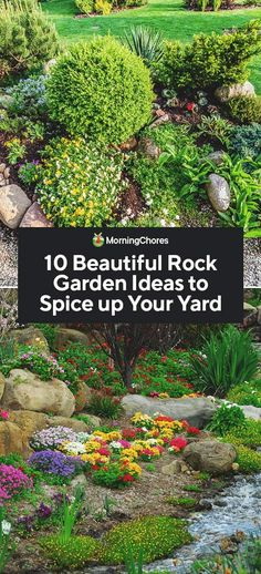 10 Beautiful Rock Garden Ideas to Spice up Your Yard - Rocks bring a charming aesthetic to a garden and they help prevent erosion and runoff. Check out ou - Beach Gardens, Outdoor Gardens, Indoor Outdoor, Outdoor Spaces, Side Garden, Garden Beds, Garden Paths, Garden Tools, Rock Wall Gardens