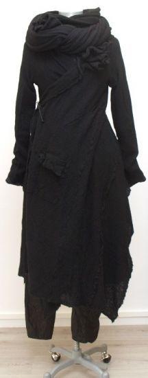 rundholz dip - Strickjacke Wickeloptik Cashmere Mix black - Winter 2015 - stilecht - mode für frauen mit format...