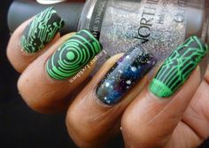 Lacquer Lockdown - MoYou London, MoYou London Sci Fi Collection, Sci Fi 05, stamping, nail art, galaxy nails, NYC Matte Me Crazy, Wet N' Wil...