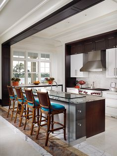 Great kitchen. I love the trim that continues on the soffit.