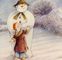 A childhood favorite of mine. The Snowman : Raymond Briggs : 1982 Christmas Movies, Christmas Art, All Things Christmas, Vintage Christmas, Xmas, Holiday Movies, Christmas Scenes, Father Christmas, Raymond Briggs