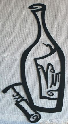 Vino Bottle Wine Metal Wall Art Sign by TheSheetMetalKid on Etsy, $60.00