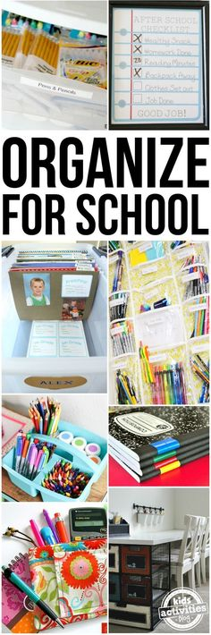 How to organize for school? Yes, it is that time of year again. You blissfully shopped for the long school supply list, and now you are in need of some back to school organization!