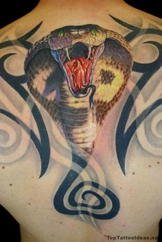 3d Cobra Tattoo Idea