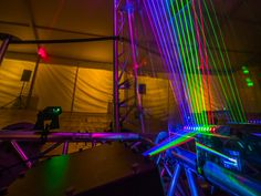 More powerful systems for large indoor venues and smaller festival stages Laser Show, Indoor, Interior