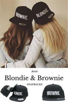 409bbf23975 Blondie Brownie Best Friends Snapback Caps