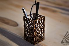 Picture of Laser Cut Geometric Pencil Holder