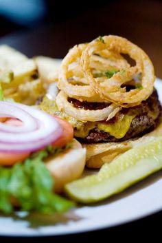Guinness BBQ Burger Rí Rá Irish Pub Recipes