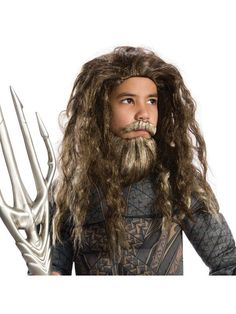 Check out Boys Beard And Wig Aquaman Set - Costume Accessories for 2018 | Wholesale Halloween Costumes from Wholesale Halloween Costumes