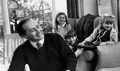 J.G. Ballard and his children.