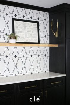 we love this new west pattern for it's simplicity and grace. many western cement tile patterns can be bold and provocative, Laundry Room Tile, White Laundry Rooms, Laundry Room Design, Laundry Nook, Basement Laundry, Black And White Backsplash, Black And White Tiles, Black White Bathrooms, New West