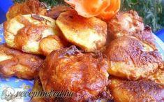 Krumpli szeletek sajtos, kefires bundában recept fotóval