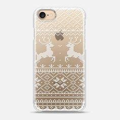 Casetify iPhone 7 Snap Case - Christmas sweater (transparent) by Esther van der Drift