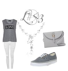 """love"" by lea-fashionista ❤ liked on Polyvore featuring Topshop, Carmakoma, Vans and Meli Melo"