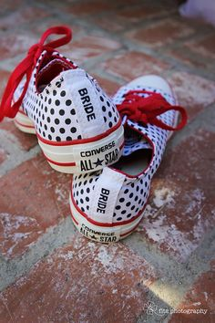 Rockabilly wedding bride sneakers as an alternative wedding shoe- my feet would ...