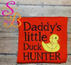Duck hunter made by Shana's boutique