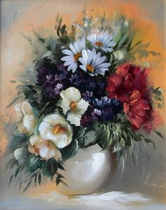 20 Beautiful Bouquet and Flower Oil Paintings by Szechenyi Szidonia Oil Painting Flowers, Oil Painting On Canvas, Flower Paintings, Oil Paintings, Flower Oil, Flower Vases, Diy Flower, Colorful Paintings, Beautiful Paintings