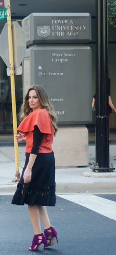 www.fashion-isha.com Mix and Mezzo #modest #fashion #style #streetstyle #skirt #cape #orange #blackskirt #blogger