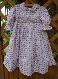 Tana Liberty dress with hand smocking. Hand smocked by Mary Addison 11.7.14