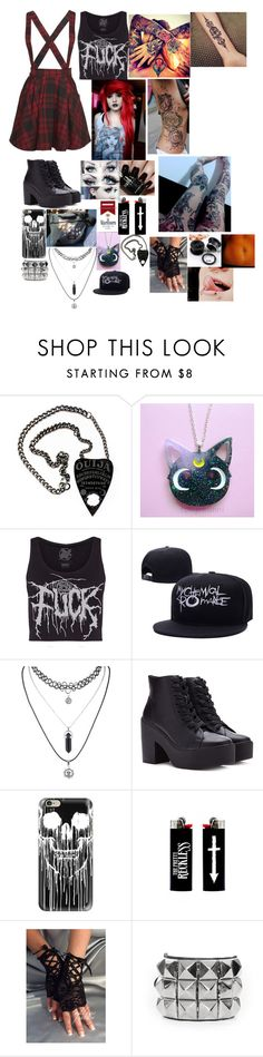 """""""True Friends-Bring Me The Horizon"""" by hold-on-till-may-lca ❤ liked on Polyvore featuring Mini Cream, Forever 21, Casetify and Nails Inc."""
