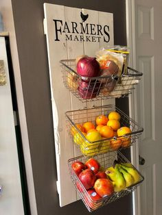 Farmers Market Rustic Produce Wall Hang Kitchen Fruit and Vegetable Produce Storage kitchen storage