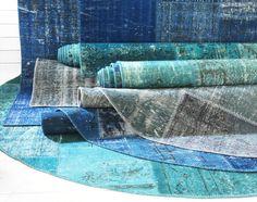 SILKEBORG vloerkleden   #IKEA #uniek #tapijt #vintage #kleed #vloerkleed #patchwork #blauw
