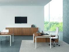 X4 Escritorio de oficina by Quadrifoglio Sistemi d'Arredo diseño Ambostudio