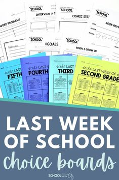 Keeping students engaged during the last week of school is a daunting task! Why not make the work fun for your students, yet as easy for you as possible? This resource contains one editable choice board for each grade level: 2nd, 3rd, 4th, and 5th. 9 unique activities were designed to engage your students while also reinforcing skills learned throughout the school year. Printable and digital options to serve your students best during the last day or week of school! School Choice, Choice Boards, Classroom Supplies, Last Day Of School, Fifth Grade, When I Grow Up, Fun At Work, Social Skills, Growing Up
