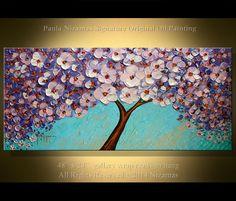 Original Modern Painting 48 x 24 Contemporary Palette por Artcoast