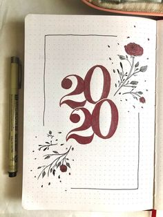 2020 cover page bullet journal Bullet Journal Cover Ideas, Bullet Journal Lettering Ideas, Bullet Journal Banner, Bullet Journal Notebook, Bullet Journal Aesthetic, Bullet Journal School, Bullet Journal Spread, Bullet Journal Layout, Journal Covers