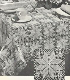 Best 12 Creative Image of Crochet Tablecloth Pattern Crochet Tablecloth Pattern Pdf Crochet Tablecloth Pattern Small Square Or Large Rectangle Etsy Vintage Crochet Patterns, Crochet Doily Patterns, Crochet Squares, Thread Crochet, Crochet Doilies, Diy Crafts Crochet, Crochet Home, Crochet Tablecloth Pattern, Crochet Bedspread Pattern