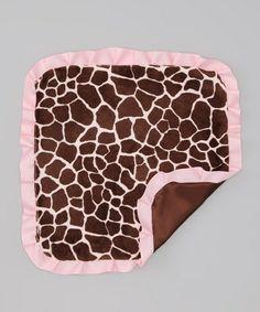 Look what I found on #zulily! Caught Ya Lookin' Brown & Pink Giraffe Security Blanket by Caught Ya Lookin' #zulilyfinds