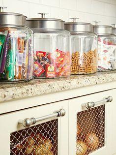 Great pantry organization idea for after school snacks organization-ideas