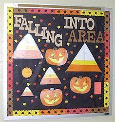 Fall High School Interactive Math Bulletin Board Idea