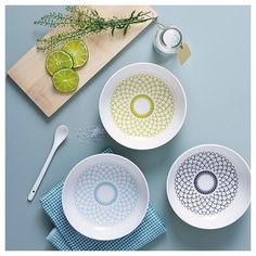 Set of 5  designer patterned porcelein bowl