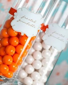 Gumballs for grad party! Could do 1 jar in his college colors and one in Marine Corp colors Grad Parties, Summer Parties, Tahiti, Candy Bowl, Candy Jars, Candy Crafts, Graduation Celebration, Edible Gifts, Birthday Love