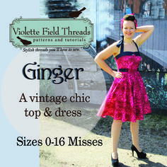Ginger vintage dress from the Bundle Up Collection from Pattern Revolution.