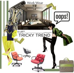 """How to Wear Tricky Trends at Work"" by bjankamedic ❤ liked on Polyvore"