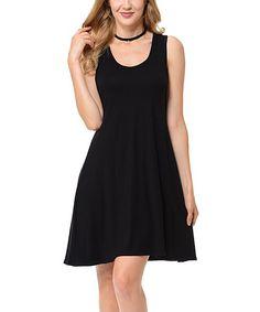 Black Racerback Dress - Plus