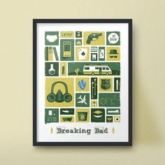 Breaking Bad Art Print Iconic Poster Design by jefflangevin