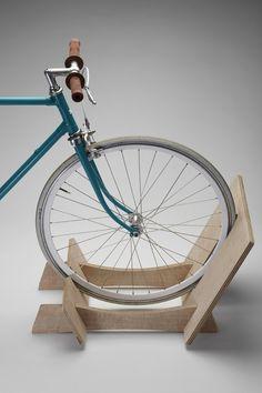 Bikerax MiniRax - Wooden Bike Rack $99.95 http://cyclestyle.com.au/shop/bike-rack/bikerax-one-bike-wooden-bike-rack/