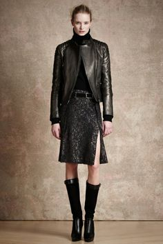 """PRE-FALL 2013  Belstaff /   """"We love our heritage,"""" said Belstaff's Martin Cooper, """"but I never want to be beholden to it."""" Off come the shackles, in rushes the fresh air. Belstaff, which has been cranking out motorcycling gear for the better part of a century, has, since its revival in 2011, navigated a course between its history and the demands of its new status as a high-fashion house."""
