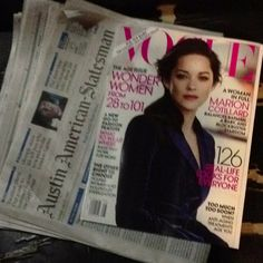 Day Twenty-Two: comfort reads. The Sunday paper and the new issue of Vogue.