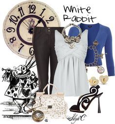 """White Rabbit Inspired Outfit"" by rubytyra on Polyvore"