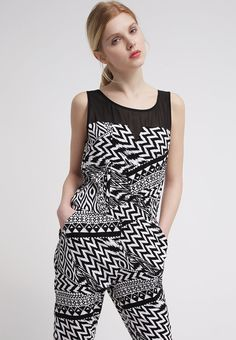 Even&Odd Jumpsuit - black/white - Zalando.de