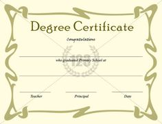sample graduation certificate Best Degree Certificate Templates for Primary school graduation . Graduation Certificate Template, Degree Certificate, Certificate Templates, School Certificate, Secondary School, Primary School, Printable Certificates, Graduation Day, School Parties
