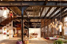 Urban Outfitters Office: Minneapolis-based architectural firm Meyer, Scherer & Rockcastle was brought onto the project. The firm specializes in historic renovations.    D.I.R.T. studio was hired to transform the landscape around the buildings. The firm is known for turning derelict industrial sites into vibrant public spaces.